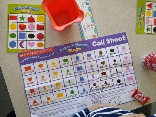 Scholastic shapes and colours bingo
