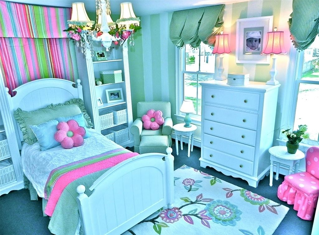 Decorating Girls Bedroom Beautiful Ideas For Teenage Teal And Pink Colors Combinations