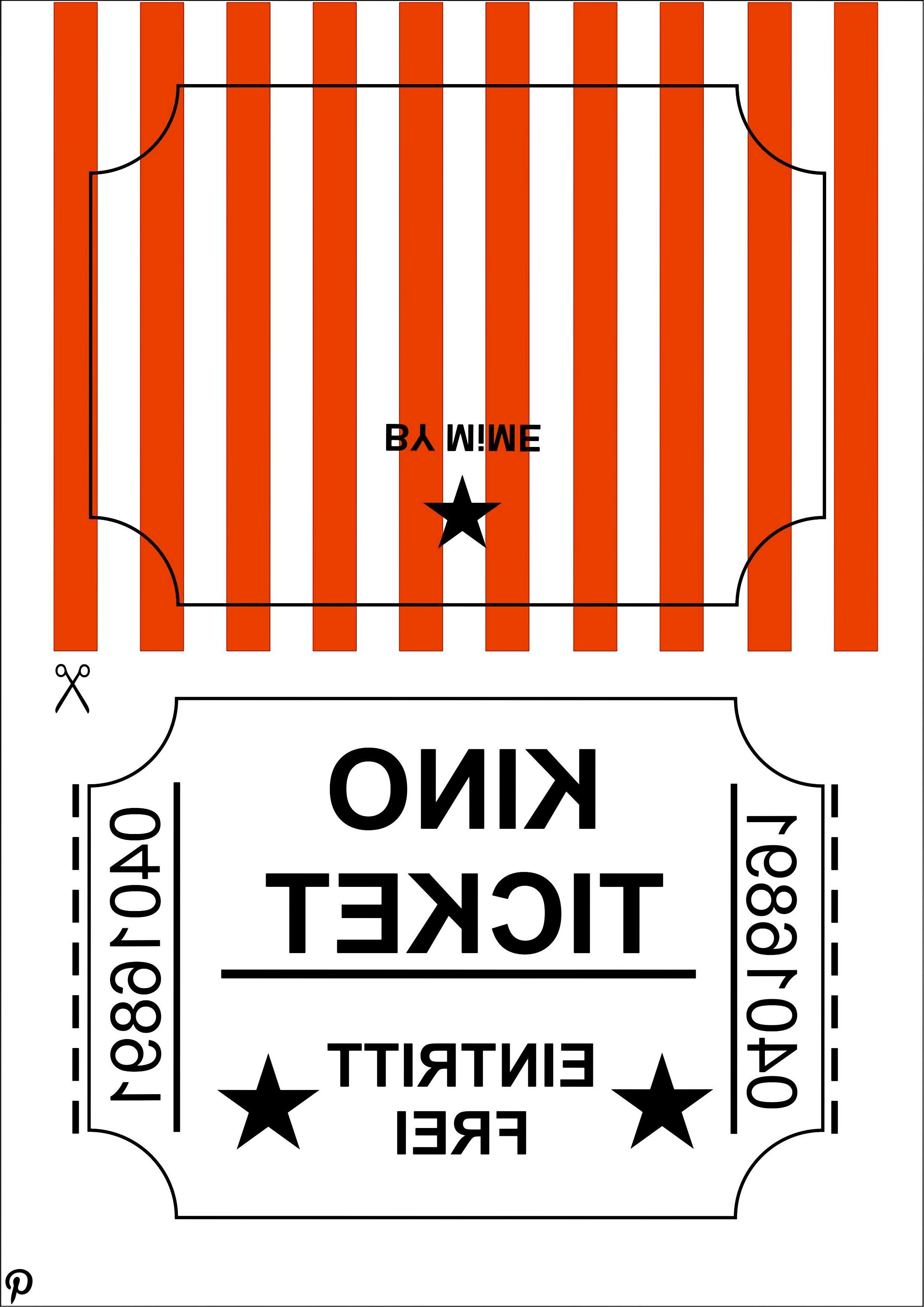 Kinogutschein selber basteln - Kostenloses Printable auf blog.hellomime.eu #kinogutscheinbasteln