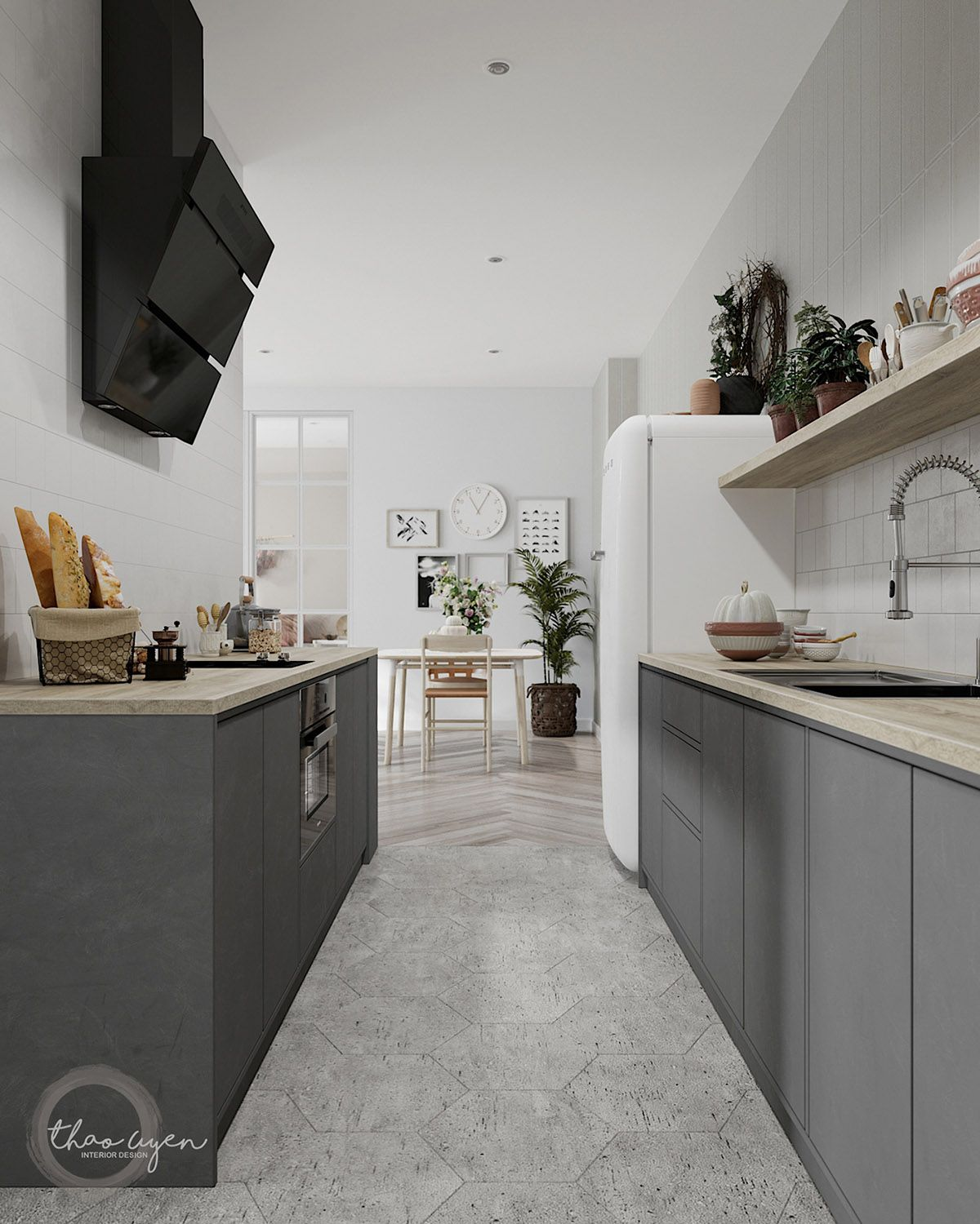 3 Homes That Show Off The Beauty In Simplicity Of Modern Scandinavian Design Kitchen Design Small Galley Kitchen Remodel Galley Kitchen Design