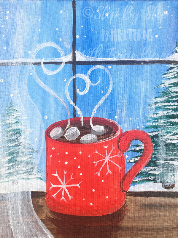 """How To Paint """"Hot Cocoa Window"""""""