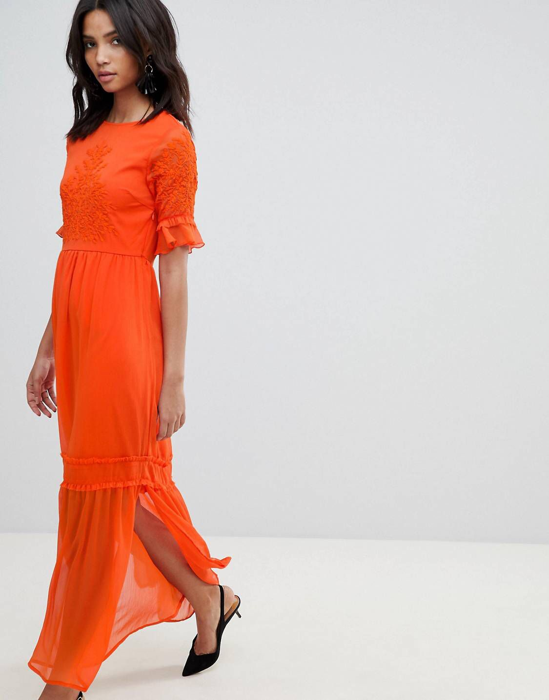 bc2e1f76d20c Y.A.S Lace Embroidered Maxi Dress | threads | Dresses, Lace, Summer ...