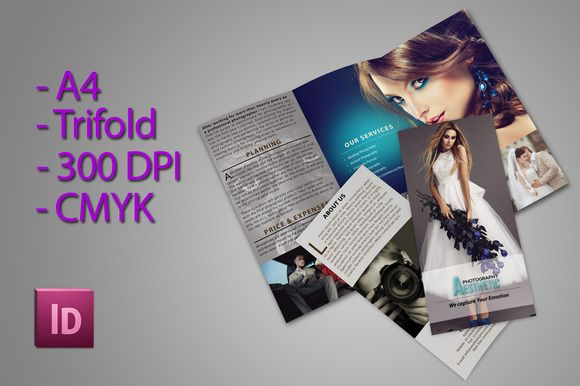 Trifold Brochure For Photographer by Aesthetic Art & Design on Creative Market