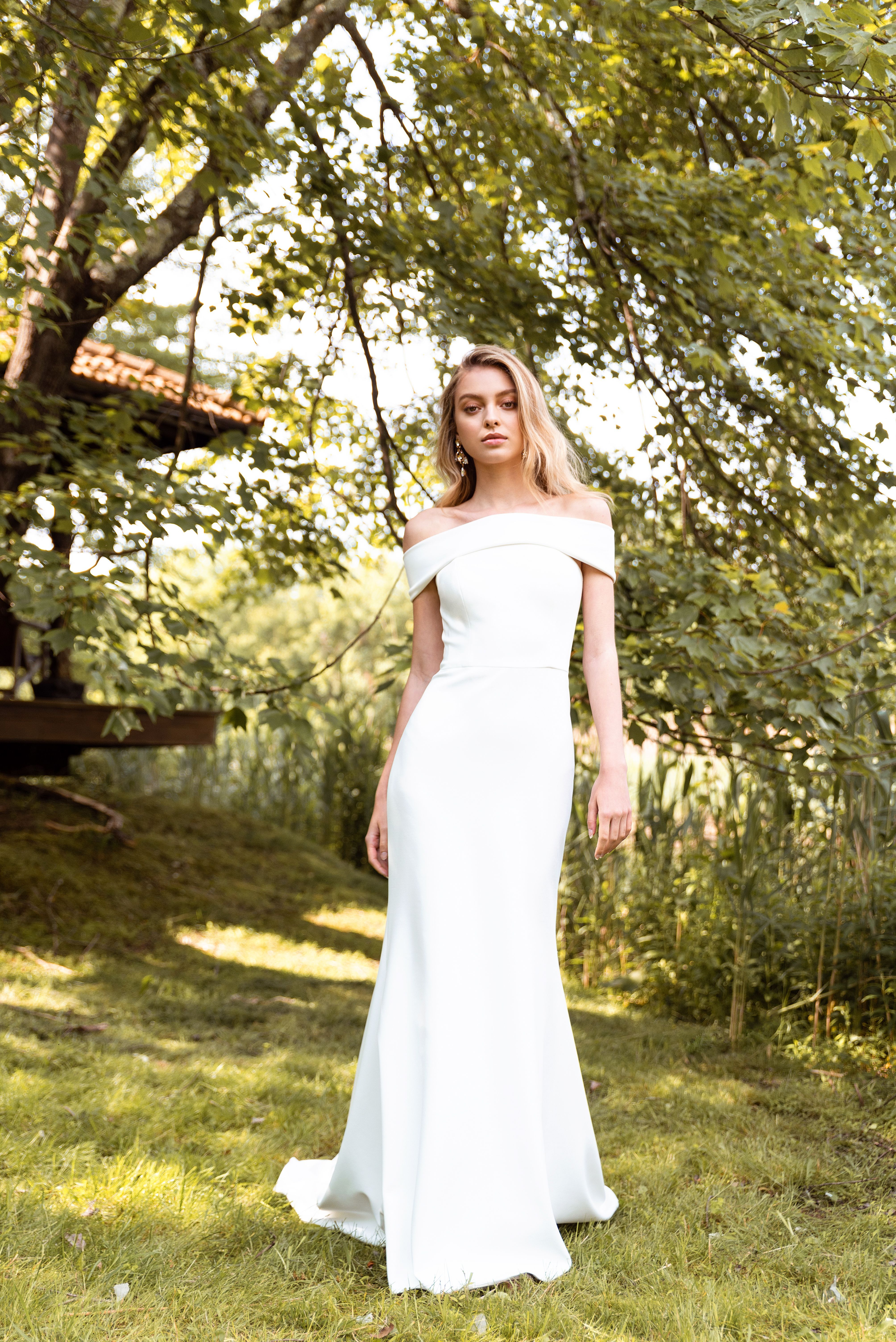 Sleek And Chic In Cooper Sophisticated Wedding Dresses Beautiful Bridesmaid Dresses Wedding Dresses