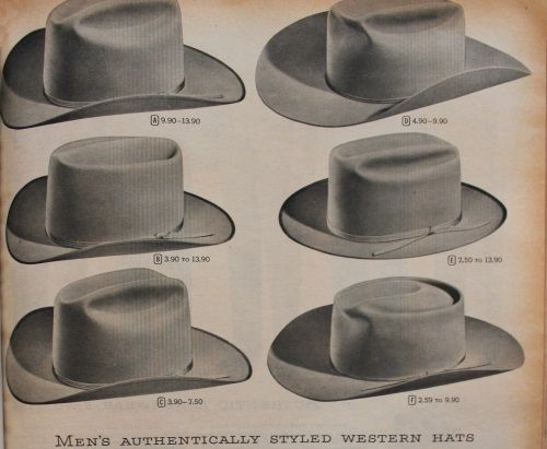 43a68aef4 1930-1950s Western Wear for Women and Men | cowboy hat | Mens ...