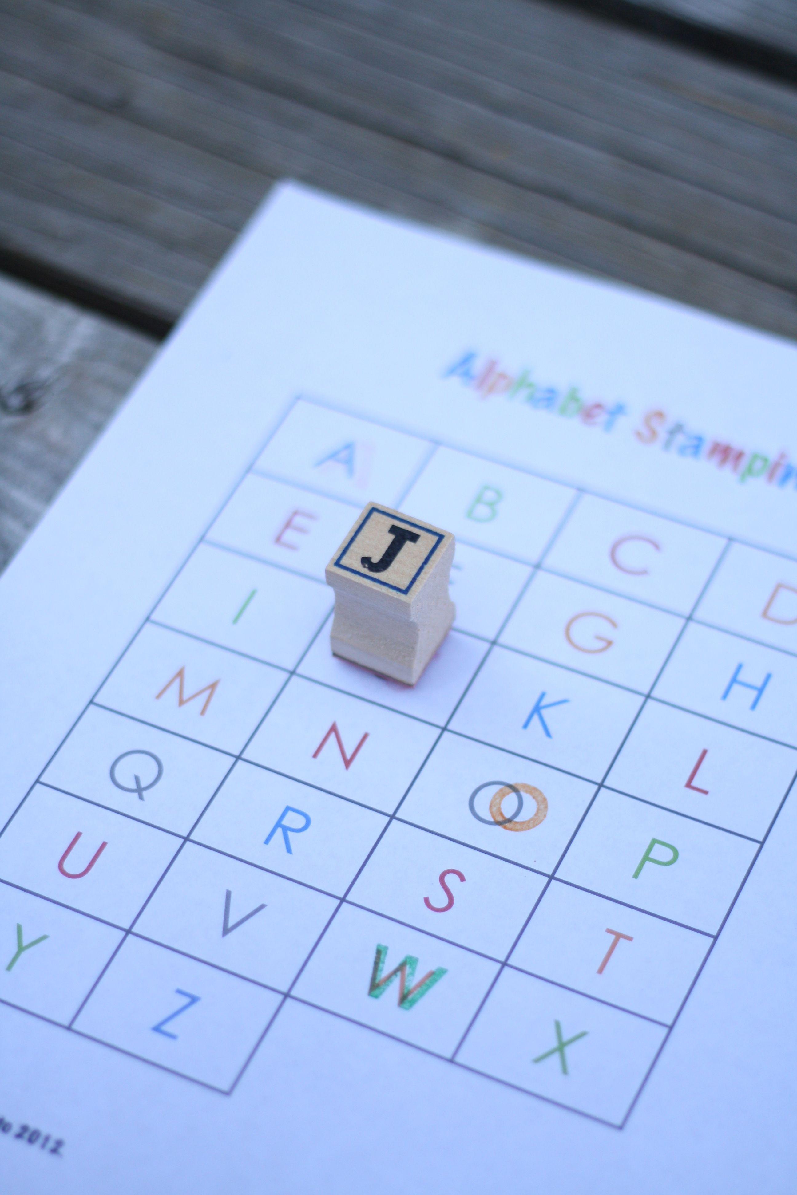 Abc Game Alphabet Stamping