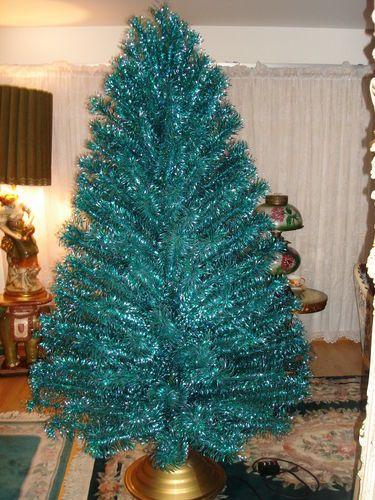 Vintage Emerald Green Blue 7 Ft Stainless Aluminum Holiday Christmas Tree Box Aluminum Christmas Tree Vintage Aluminum Christmas Tree Christmas Tree Box