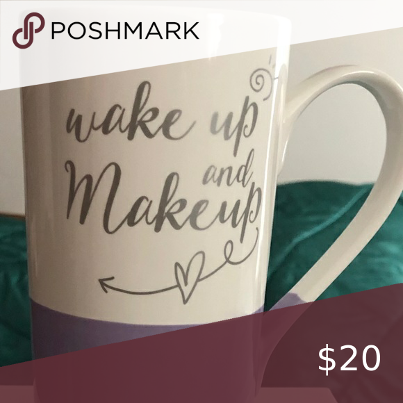 """WAKE UP AND MAKEUP"" mug NIB Previous Mary Kay Seminar"