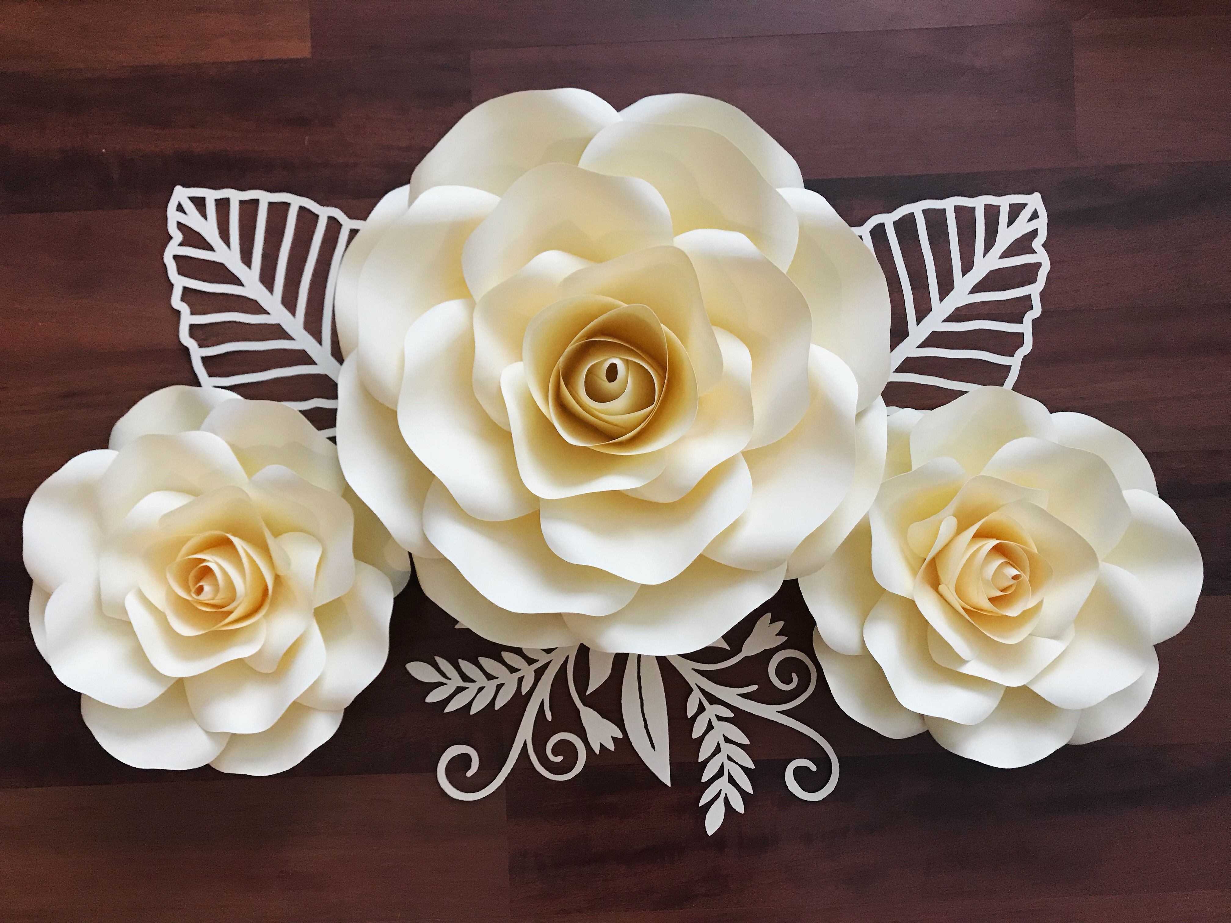 Medium And Small Rose Combo Make Your Own Paper Flowers For Your