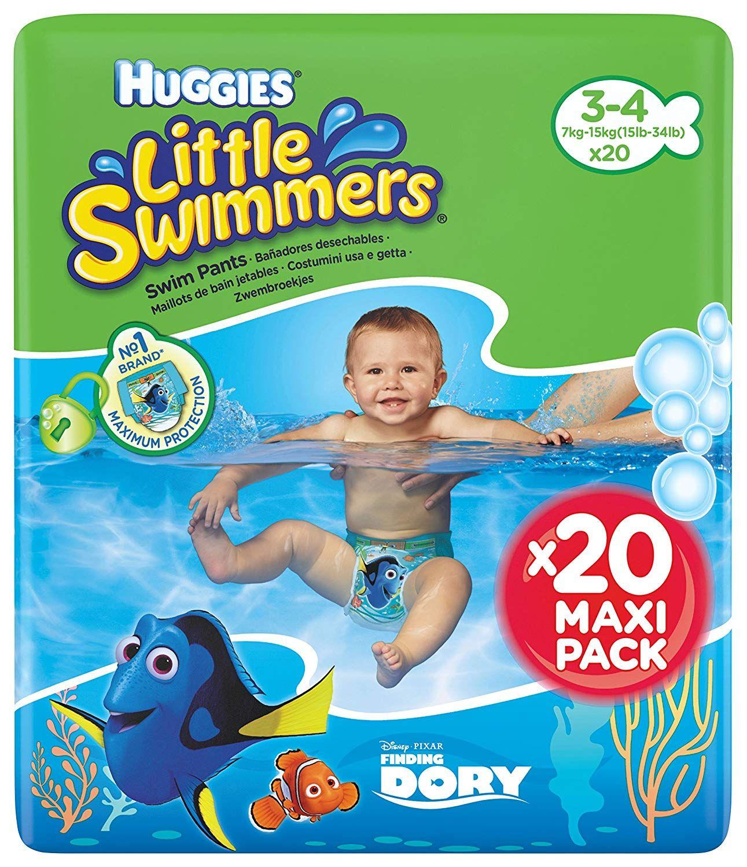 Couche-Culotte de Bain pour B/éb/é x20 Culottes 7-15 kg Huggies Little Swimmers Taille 3-4