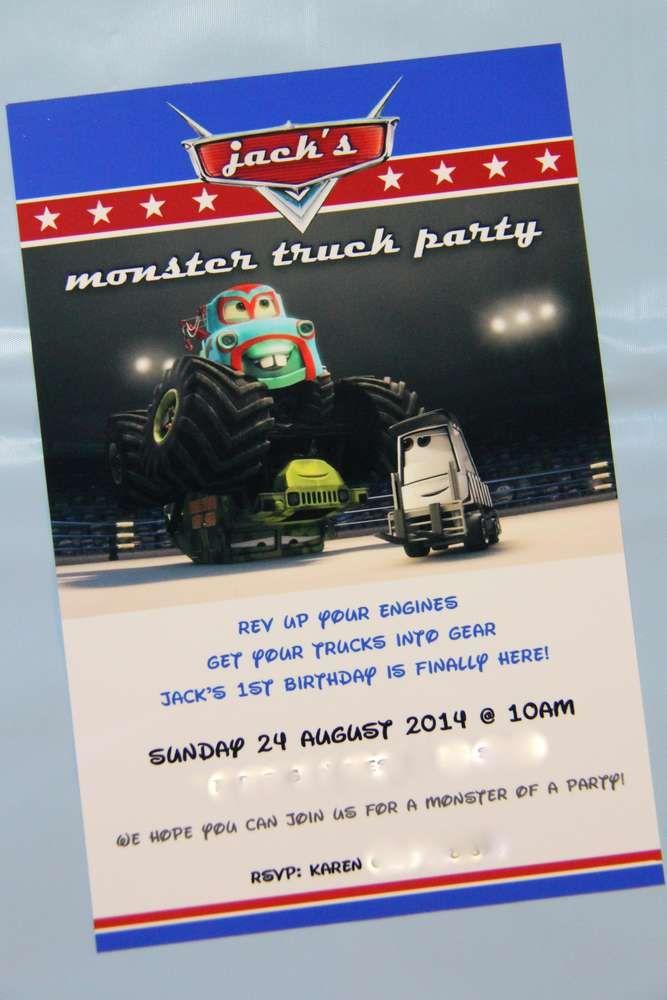 monster trucks Birthday Party Ideas | Pinterest | Monster trucks ...