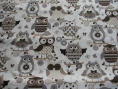 Puuvillakangas Pöllöt