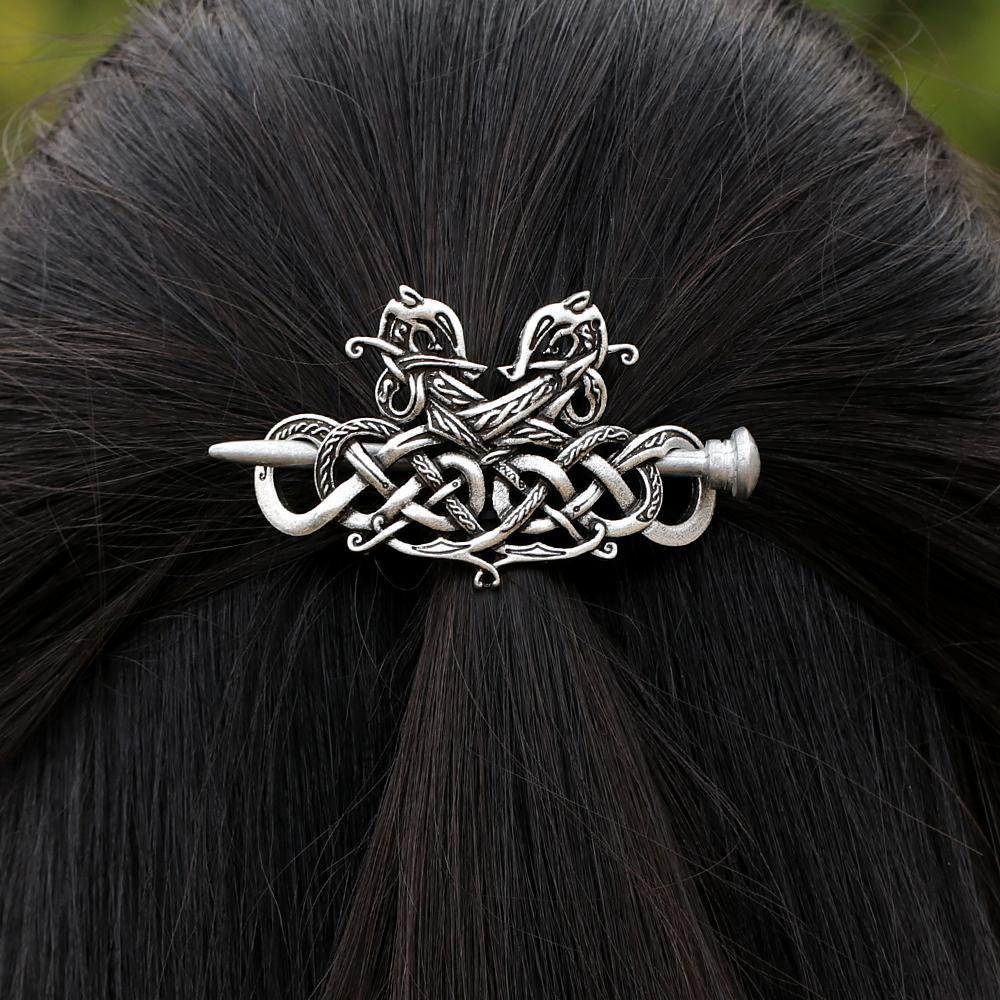 1PC Celtic Knots Clip Hairpin Charm Alloy Hair Stick Women Girl Hair Accessories