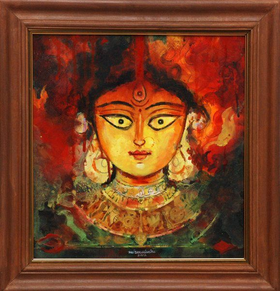Image Result For Maa Durga Oil Painting Durga Painting