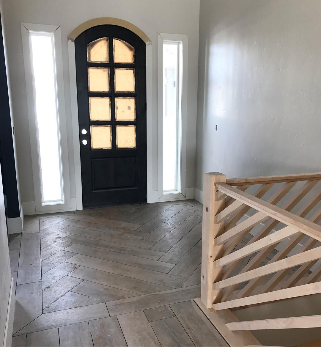 123 Likes 25 Comments Interior Designer Yvonnechristensendesign On Instagram Loving My Latest Entr Foyer Flooring House Flooring Herringbone Wood Floor