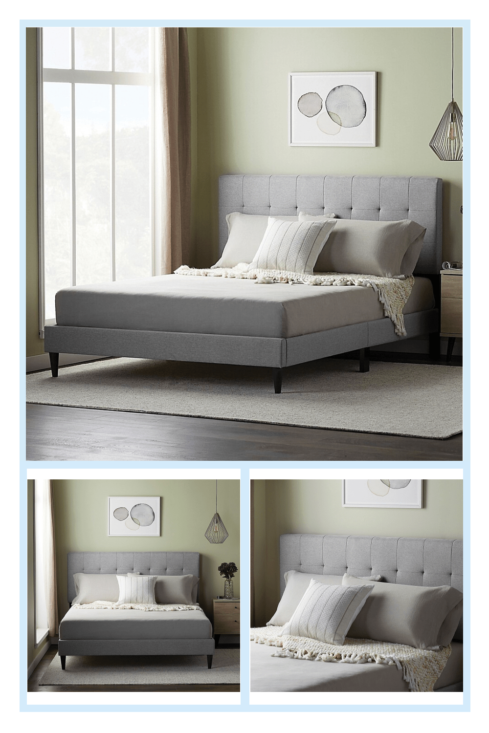 twin xl headboard and frame on dream collection by lucid platform bed frame with square tufted headboard bed bath beyond grey bed frame fabric bed frame twin platform bed frame pinterest