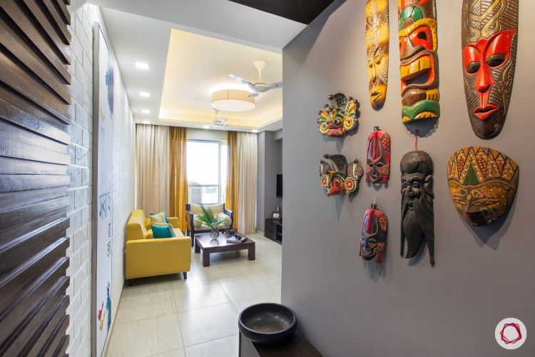 Interior design images also for an art filled colourful noida home liv rh br pinterest