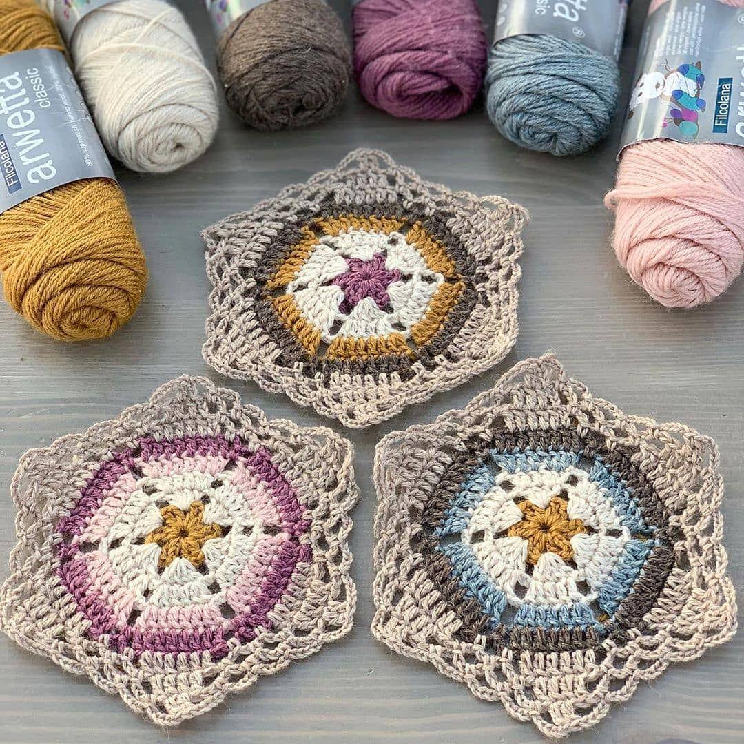 Bir Hobin Olsun On Instagram Crochetedbyaina Motif Ilovecrochet Knitaddict Kirle 2020 Tig Motifleri Tigla Islenmis Kareler Tig Isleri
