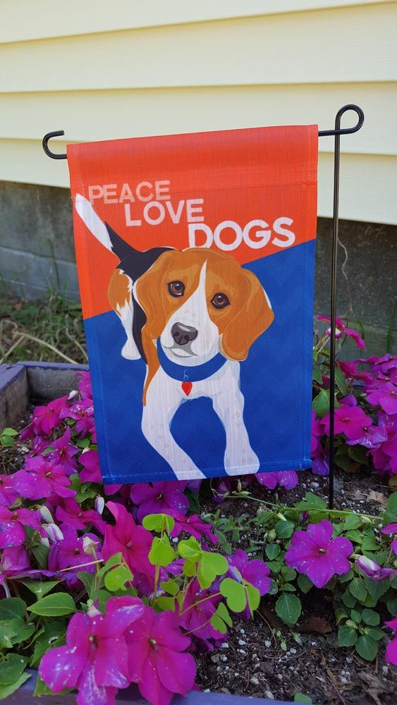 Beagle Garden Flag 12 5 X 18 In Peace, Beagle Garden Flag