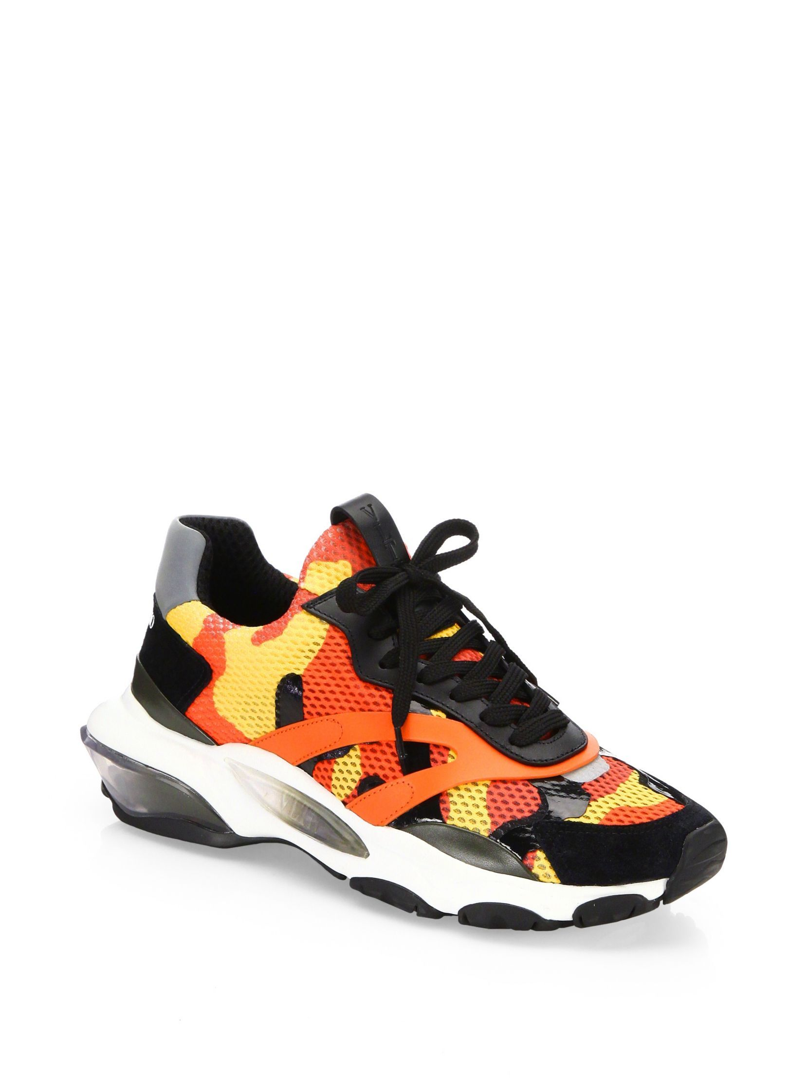 0b9d47ba66c12 Valentino Garavani Camouflage Bounce Sneakers