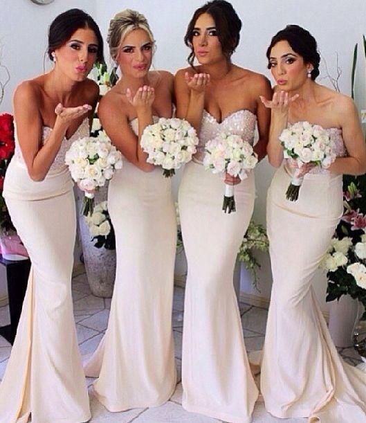 Cream Colored Bridesmaid Dresses
