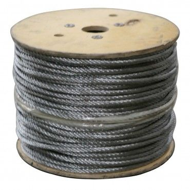 Stainless Steel Cable 1 000 Ft Roll 1 8 7x7 Stainless Steel Cable Stainless Steel Steel