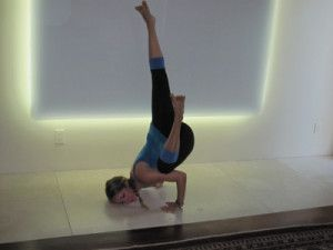 kathryn budig challenge pose tipsy frog  advanced yoga