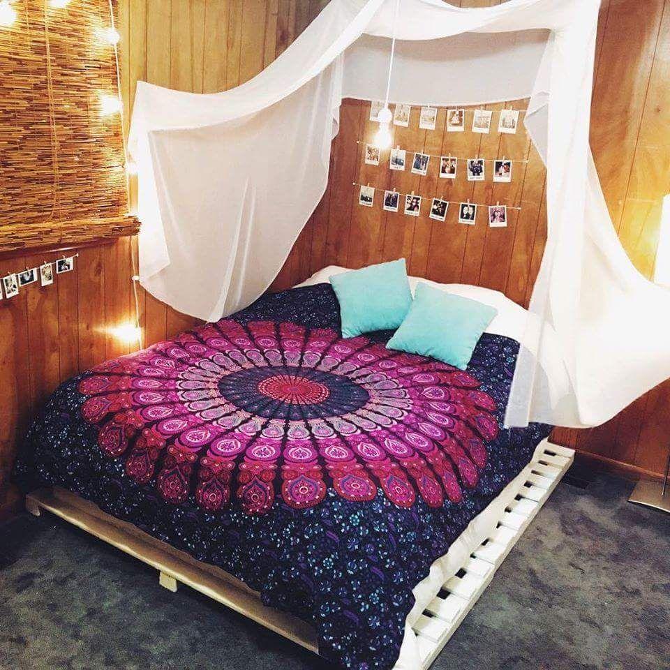 Quarto Hippie 60 Ideias E Fotos De Decora O Incr Veis Home  ~ Papel De Parede Hippie Para Quarto