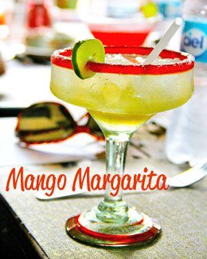 Mango Margarita:  You'll need: 100% Agave Tequila,  Orange Liqueur,  Mangos,  1 cup fresh orange juice  ⅓ cup lime juice  Simple Syrup, Ice,  Lime,  Sugar or Salt