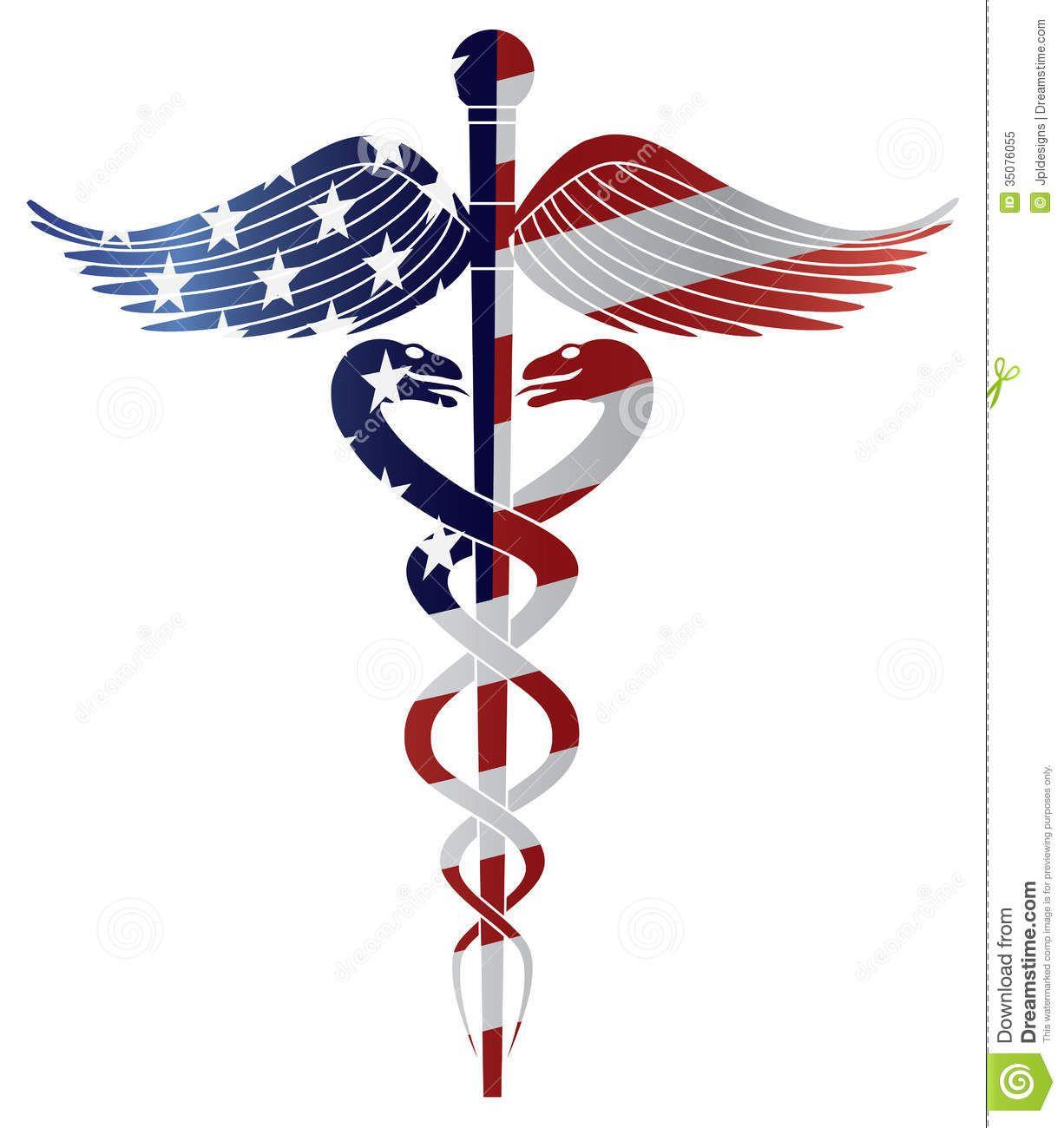 Caduceus medical symbol with usa flag illustration royalty free caduceus medical symbol with usa flag illustration royalty free biocorpaavc Images