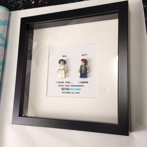Star Wars I love you I know Personalised Box Frame Picture with ...