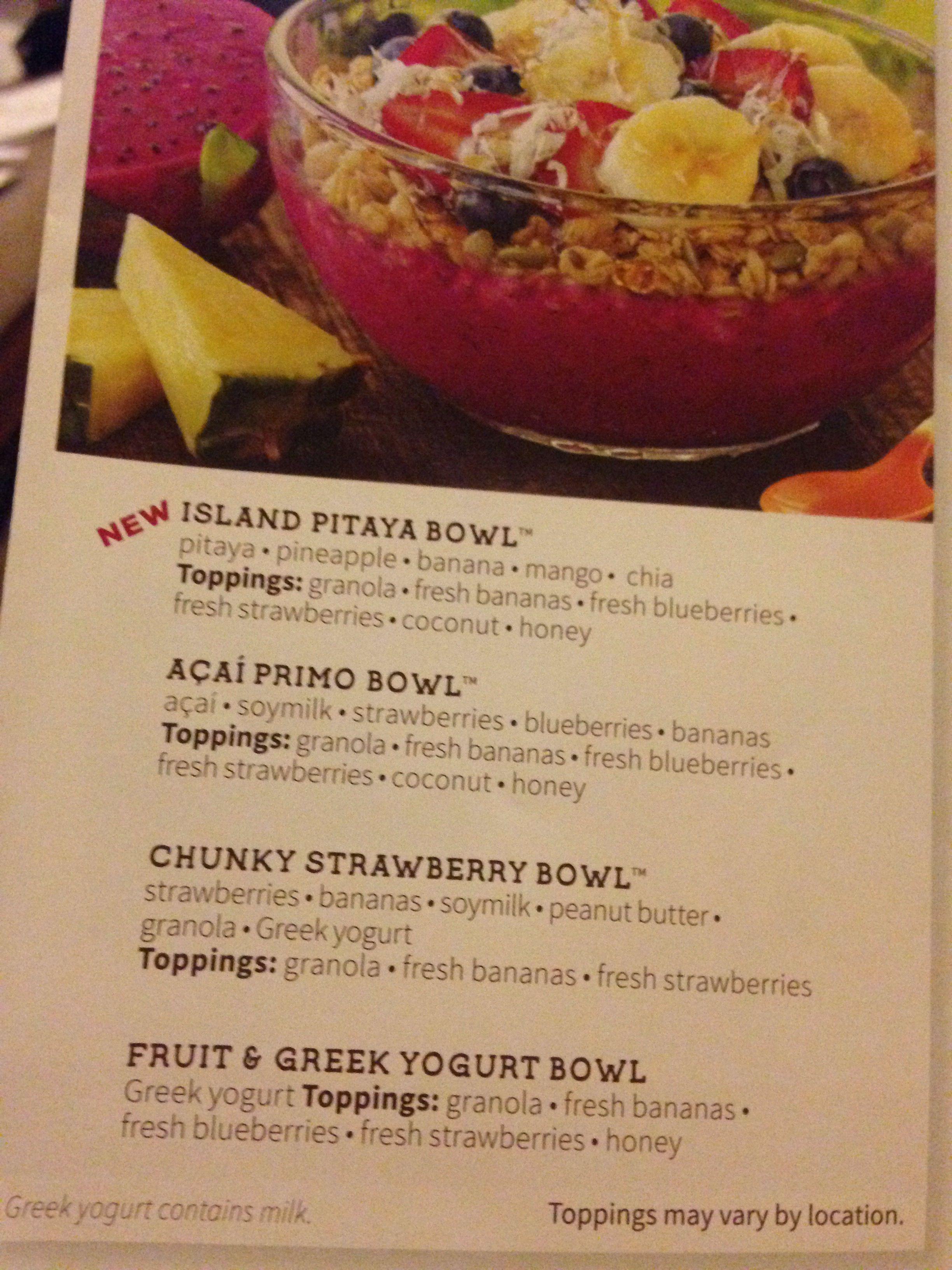 Jamba Juice Acai Bowl Recipe