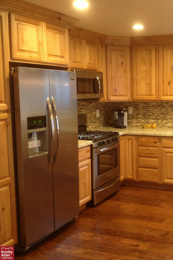 Just love the open feeling of this #kitchen. | Staining ...