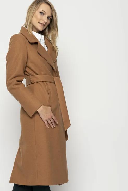Dlugi Plaszcz W Kolorze Camelowym Z Paskiem Sklep Bialcon Pl Coat Fashion Trench Coat