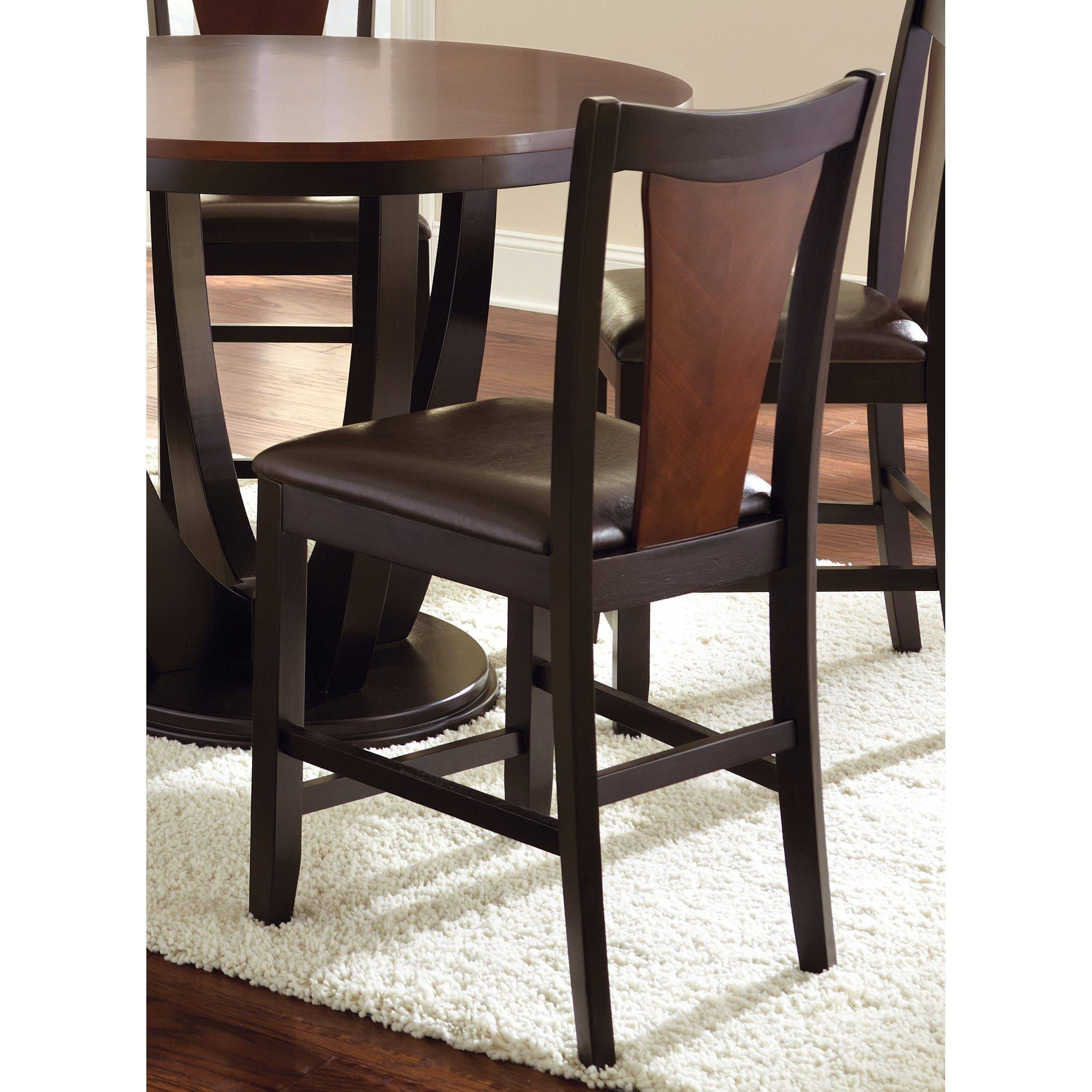 Olivia counter height medium cherry chairs set of by greyson
