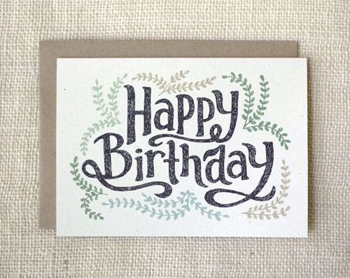 Pretty Birthday Card Pinterest Birthdays Cards And Typography
