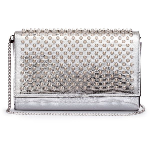 Paloma Silver Spikes Clutch 1 345 Liked On Polyvore Featuring Bags Handbags