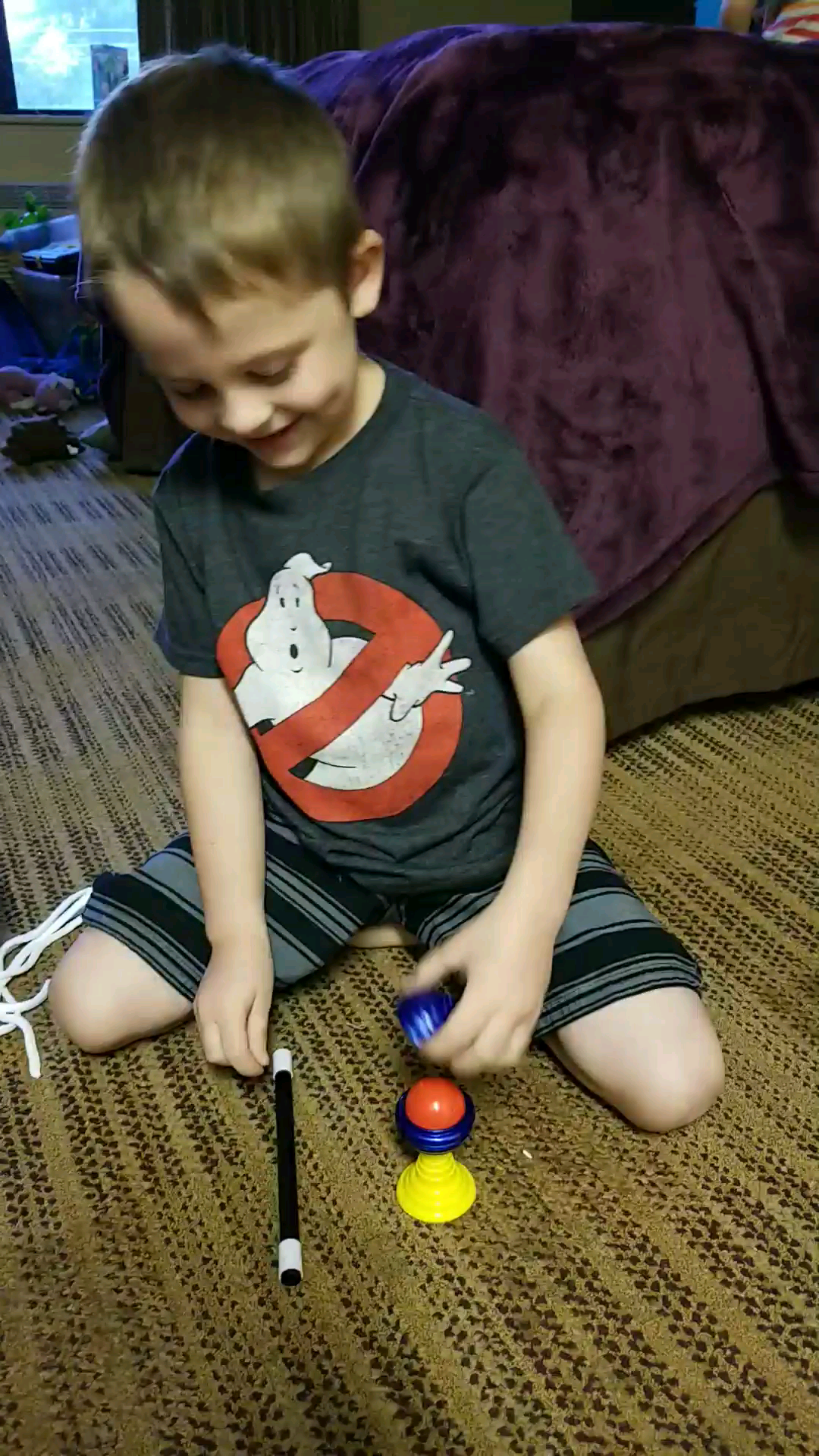 My son is so proud of his first magic trickiftltbue