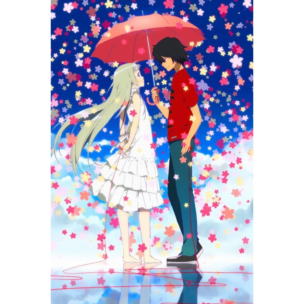 Anohana The Flower We Saw That Day Romantic Anime Poster