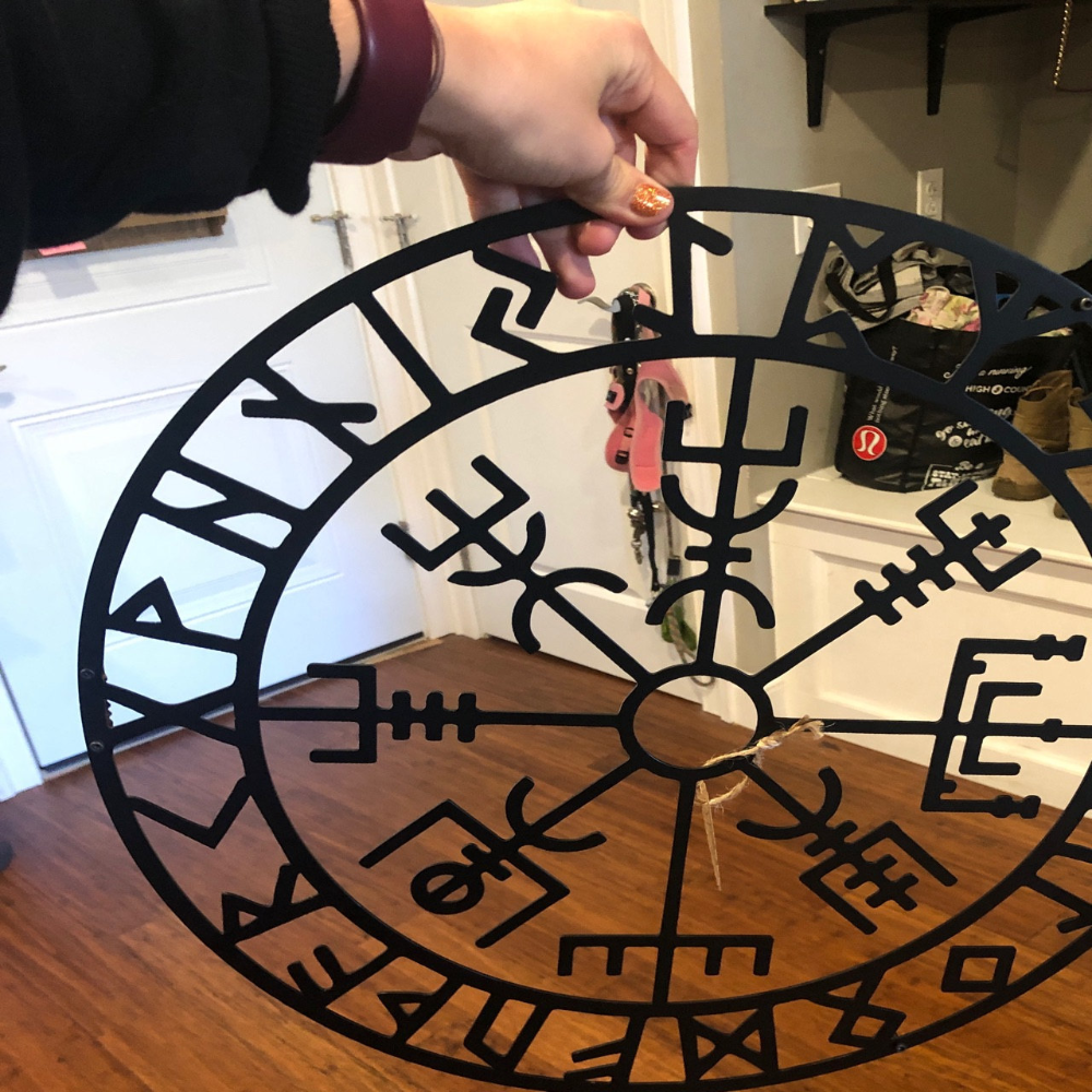 Vegvisir Viking Compass Metal Wall Art Christmas gifts   Etsy ...