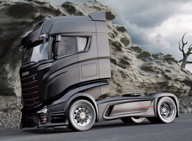 Bad ass Scania 1000 concept truck #scania #trucks #trucking