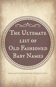 Old fashioned american names 64