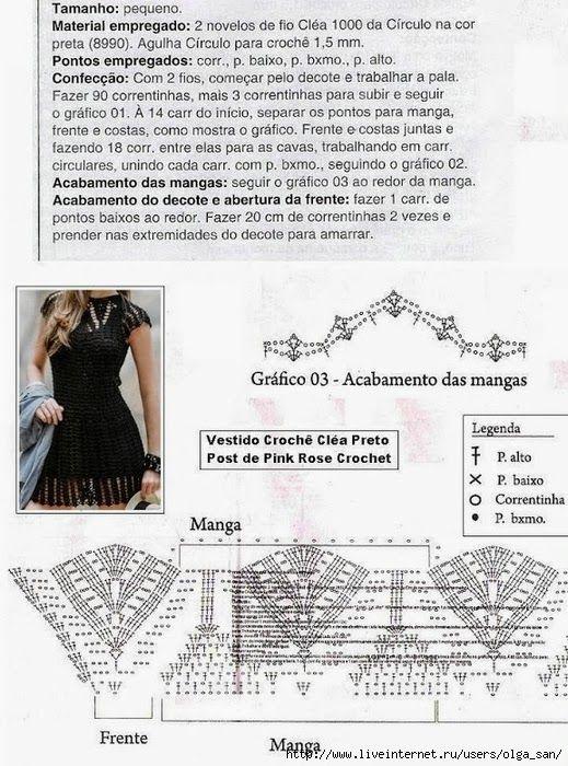 Graficos y Crochet: vestidos | Φορέματα Ενηλίκων | Pinterest ...