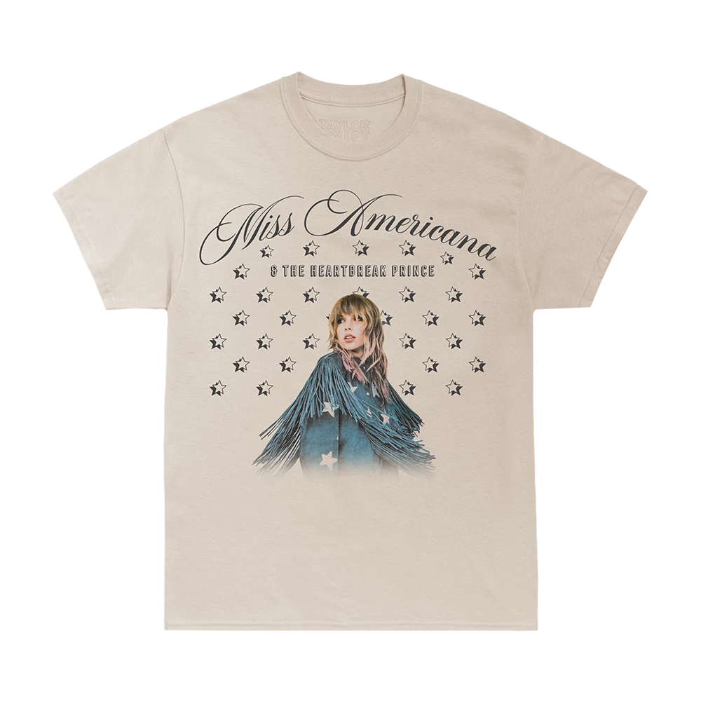SONG TITLE STAR PATTERN DESIGN PHOTO TEE Taylor Swift