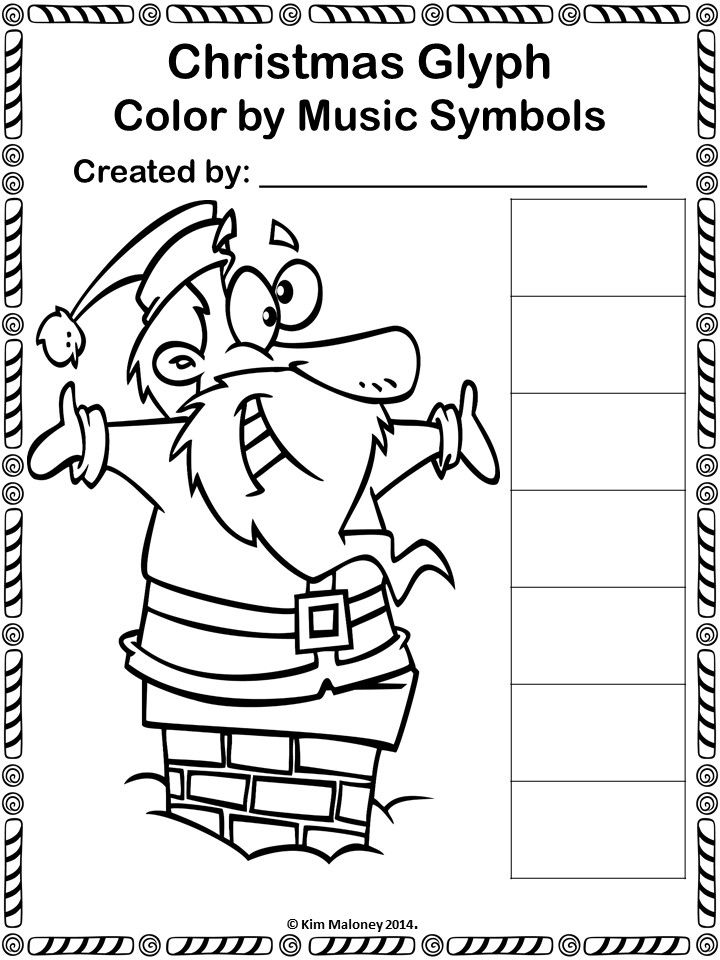 Christmas Color by Music Note: 24 Christmas Music Coloring Pages ...