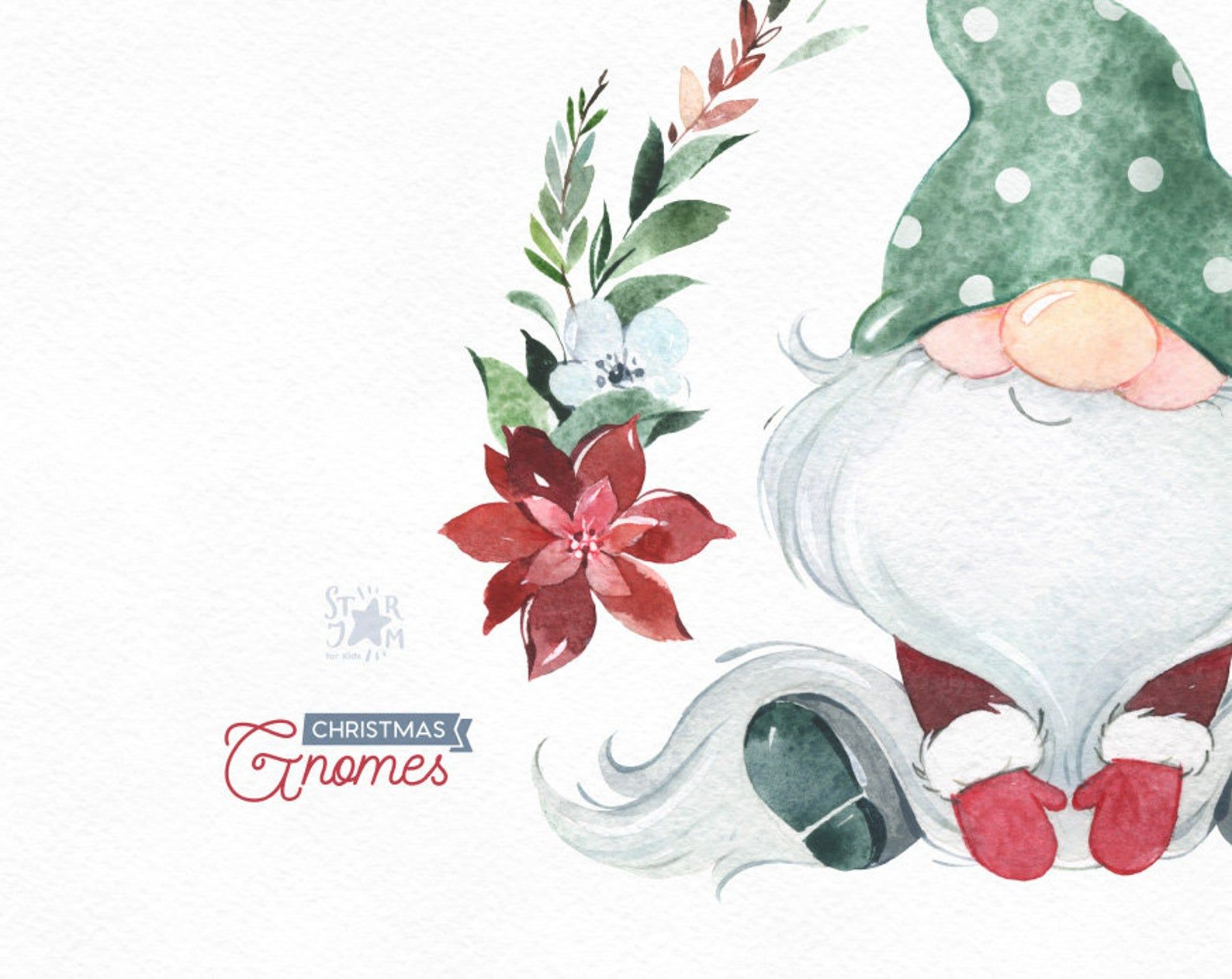 Christmas Gnomes Watercolor Clipart Nordic Scandinavian Etsy In 2020 Christmas Gnome Clip Art Clip Art Freebies