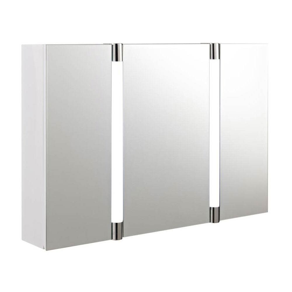 hudson reed - lincoln mirror cabinet with led light, motion sensor