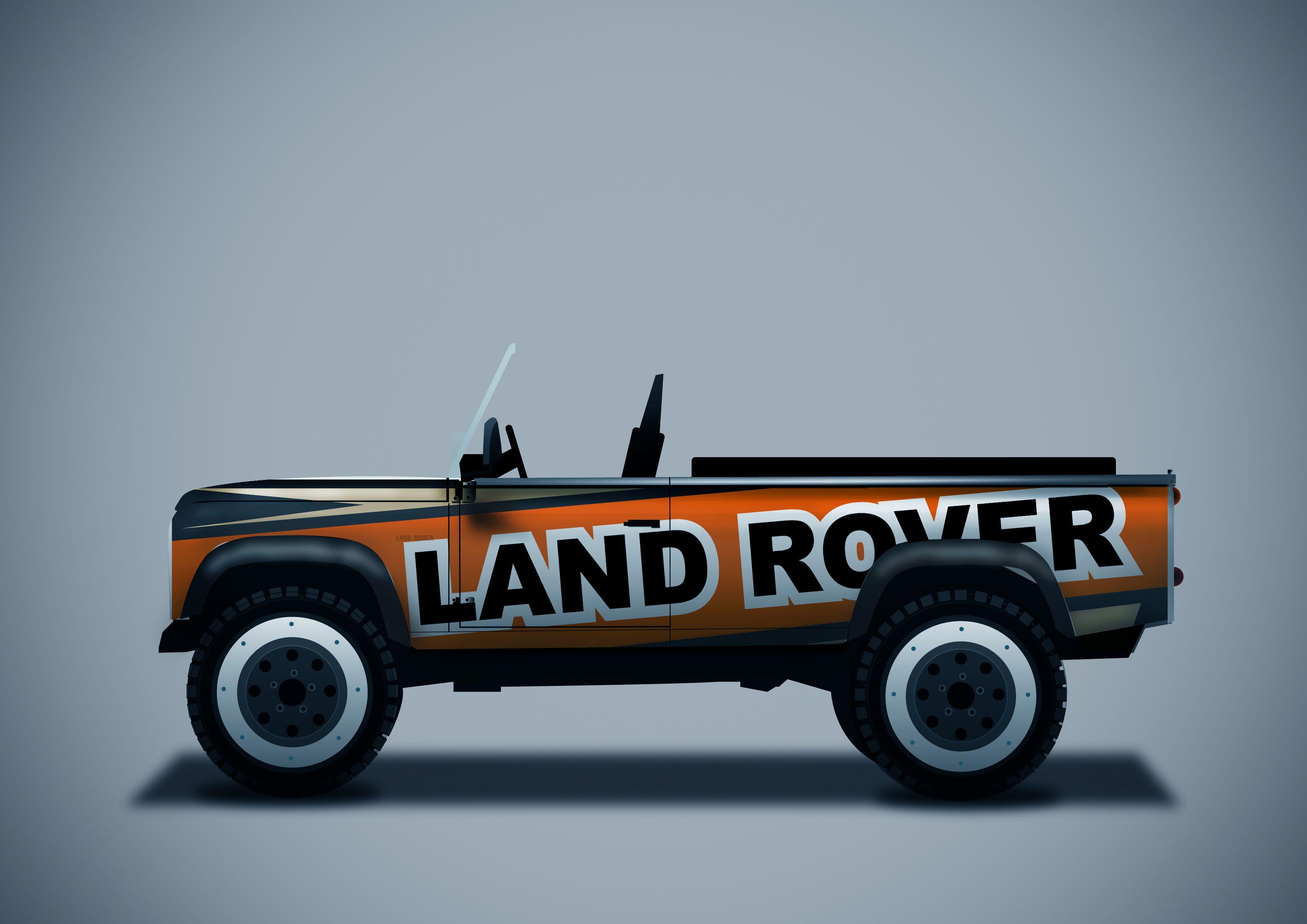 Land Rover Defender Stickers Land Rover Land Rover Defender Monster Trucks [ 2480 x 3508 Pixel ]