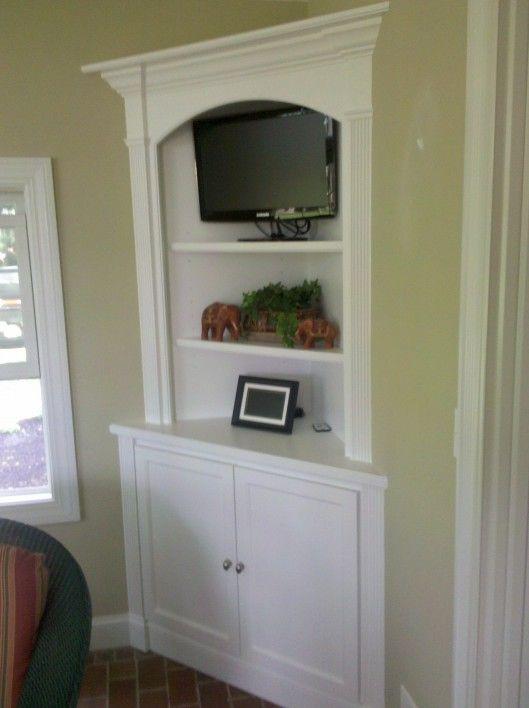 Corner Built In Hutch W Deeper Lower Cabinet Vs Upper