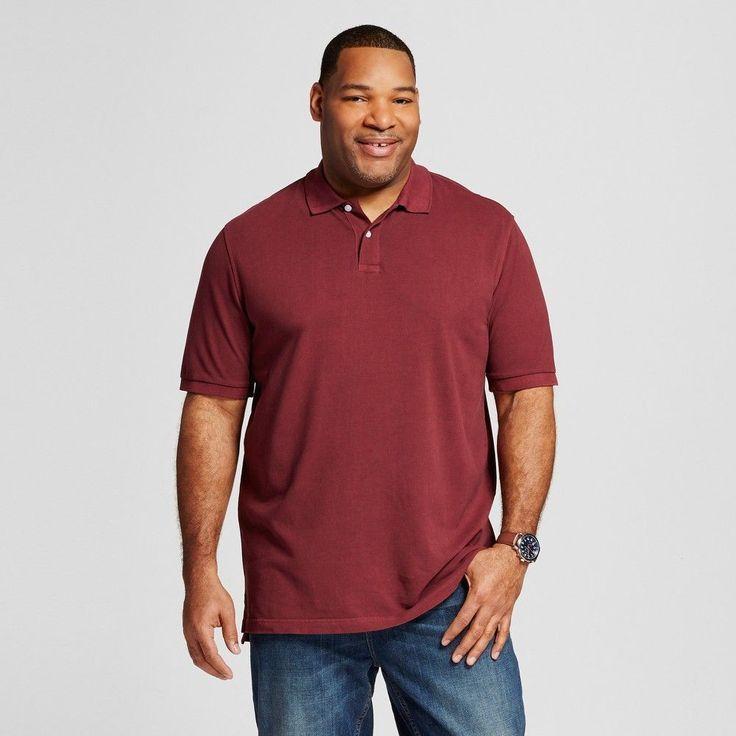 22c2be21 Clearance! Merona Ultimate Polo Shirt Berry Cobbler Size MT XLT XXLT XXXLT  NWT #Merona